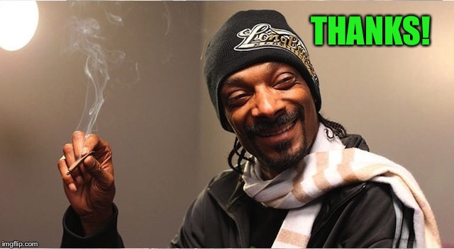 Snoop | THANKS! | image tagged in snoop | made w/ Imgflip meme maker