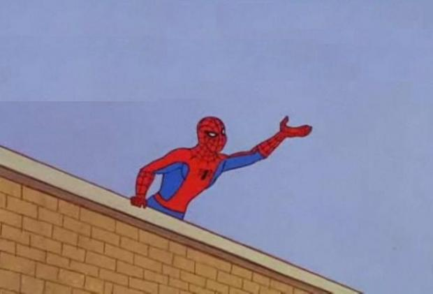 Spiderman reaching out Blank Template - Imgflip