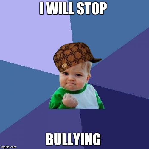 Success Kid Meme | I WILL STOP BULLYING | image tagged in memes,success kid,scumbag | made w/ Imgflip meme maker
