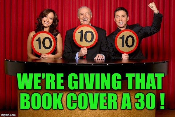 WE'RE GIVING THAT BOOK COVER A 30 ! | made w/ Imgflip meme maker