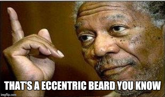THAT'S A ECCENTRIC BEARD YOU KNOW | made w/ Imgflip meme maker
