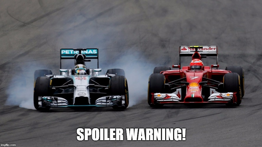 SPOILER WARNING! | image tagged in racing | made w/ Imgflip meme maker