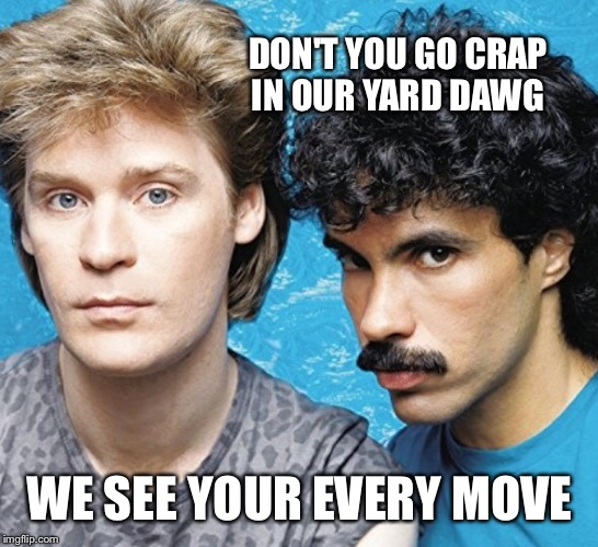 DON'T YOU GO CRAP IN OUR YARD DAWG WE SEE YOUR EVERY MOVE | made w/ Imgflip meme maker