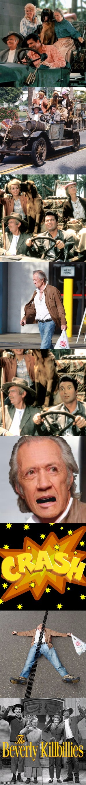 ROADKILL STEW? | . | image tagged in beverly hillbillies,kill bill,funny | made w/ Imgflip meme maker