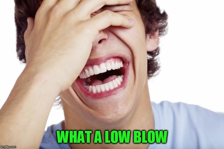 WHAT A LOW BLOW | made w/ Imgflip meme maker