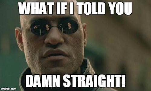 Matrix Morpheus Meme | WHAT IF I TOLD YOU DAMN STRAIGHT! | image tagged in memes,matrix morpheus | made w/ Imgflip meme maker