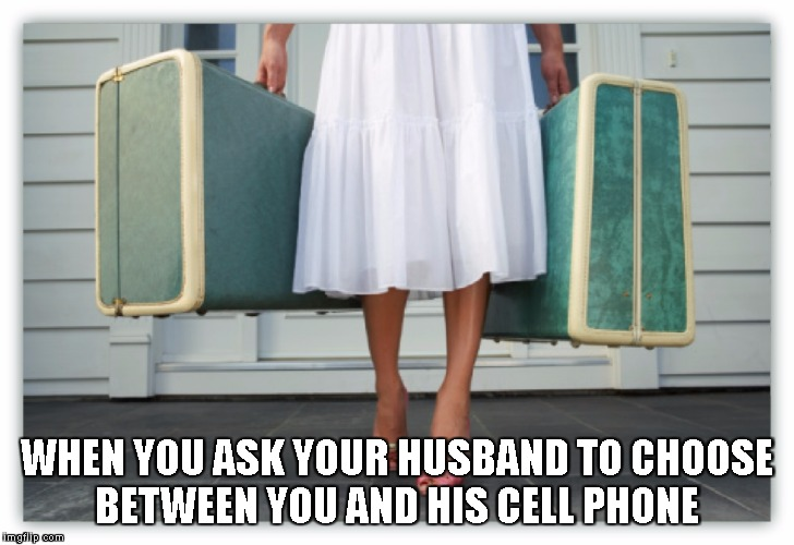 New Horizons  | WHEN YOU ASK YOUR HUSBAND TO CHOOSE BETWEEN YOU AND HIS CELL PHONE | image tagged in really,ok,cool,tech slave | made w/ Imgflip meme maker
