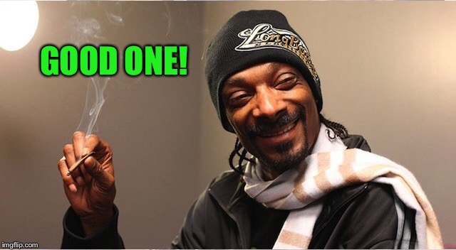 Snoop | GOOD ONE! | image tagged in snoop | made w/ Imgflip meme maker
