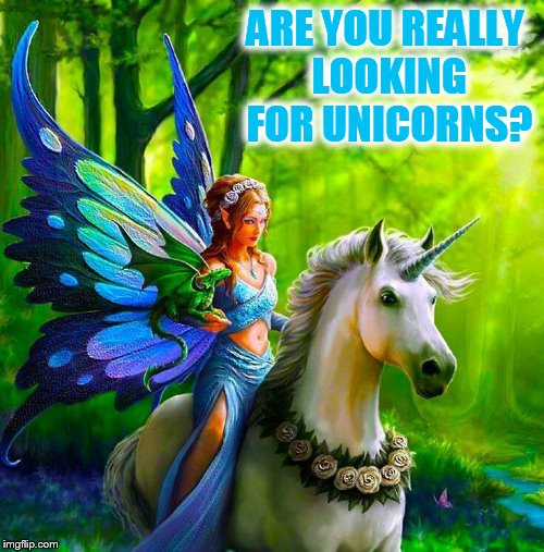 ARE YOU REALLY LOOKING FOR UNICORNS? | made w/ Imgflip meme maker