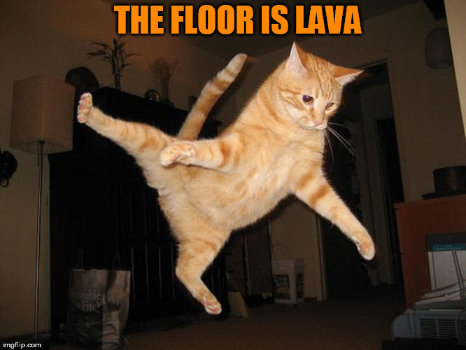 THE FLOOR IS LAVA | made w/ Imgflip meme maker