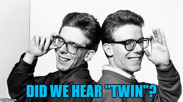 "DID WE HEAR ""TWIN""? 