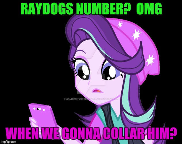 RAYDOGS NUMBER?  OMG WHEN WE GONNA COLLAR HIM? | made w/ Imgflip meme maker