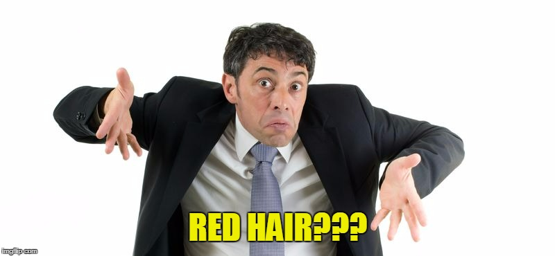 RED HAIR??? | made w/ Imgflip meme maker