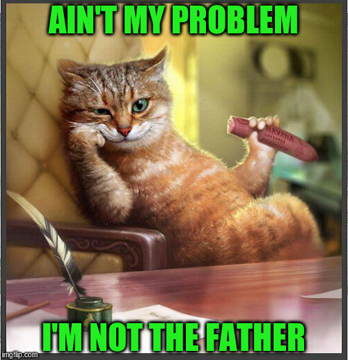 AIN'T MY PROBLEM I'M NOT THE FATHER | made w/ Imgflip meme maker