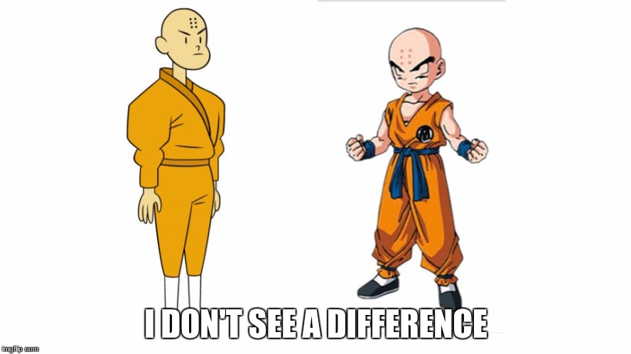 If Krillin grew up and was still bald | I DON'T SEE A DIFFERENCE | image tagged in joff the shaolin monk,krillin,ok ko let's be heroes,dbz,ok ko | made w/ Imgflip meme maker