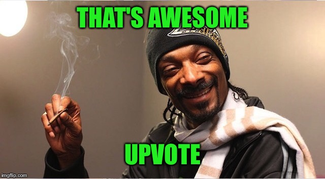 Snoop | THAT'S AWESOME UPVOTE | image tagged in snoop | made w/ Imgflip meme maker