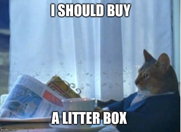 I SHOULD BUY A LITTER BOX | made w/ Imgflip meme maker