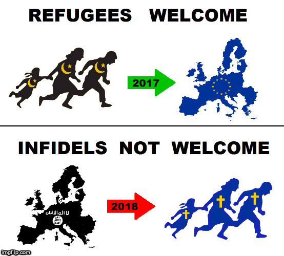 Enemy is coming... | image tagged in imigrants,infidels,refugees,european union | made w/ Imgflip meme maker