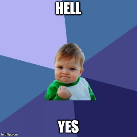 Success Kid Meme | HELL YES | image tagged in memes,success kid | made w/ Imgflip meme maker