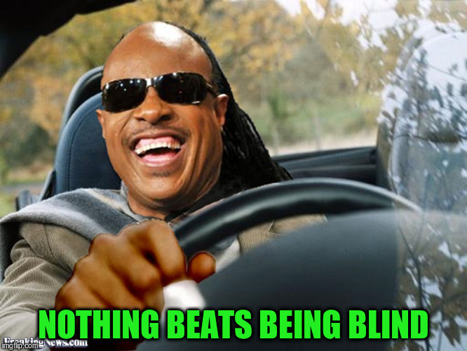 NOTHING BEATS BEING BLIND | made w/ Imgflip meme maker