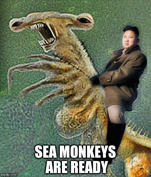 SEA MONKEYS ARE READY | made w/ Imgflip meme maker