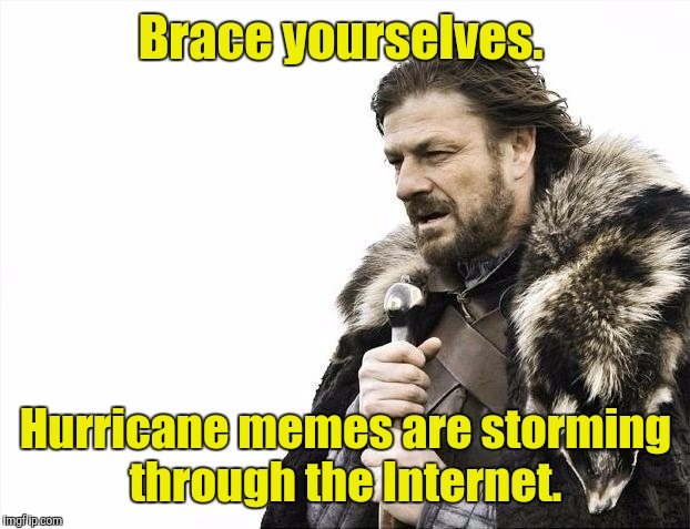 Brace Yourselves X is Coming Meme | Brace yourselves. Hurricane memes are storming through the Internet. | image tagged in memes,brace yourselves x is coming | made w/ Imgflip meme maker