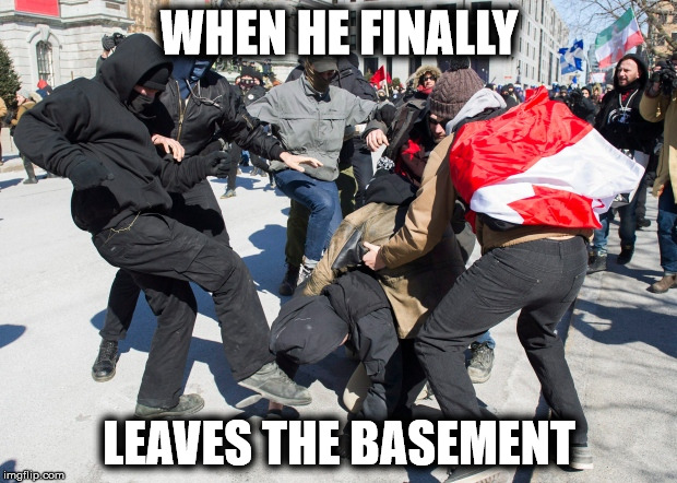 WHEN HE FINALLY LEAVES THE BASEMENT | made w/ Imgflip meme maker