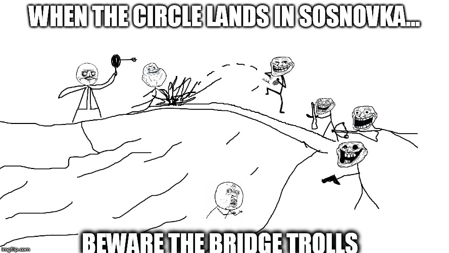 Bridge Trolls PUBG | WHEN THE CIRCLE LANDS IN SOSNOVKA... BEWARE THE BRIDGE TROLLS | image tagged in bridge trolls pubg,markiplier,lordminion777,pwned,jacksepticeye,pubg | made w/ Imgflip meme maker