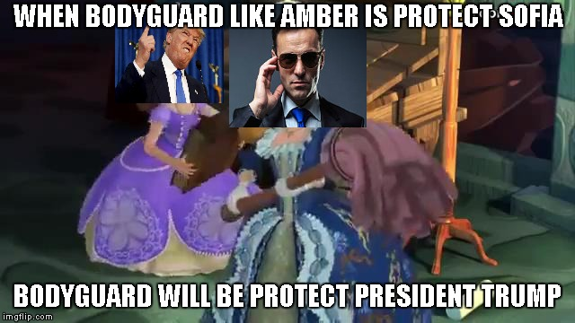 Melee Attack Off My President | WHEN BODYGUARD LIKE AMBER IS PROTECT SOFIA BODYGUARD WILL BE PROTECT PRESIDENT TRUMP | image tagged in claws off my sister,memes,gifs | made w/ Imgflip meme maker