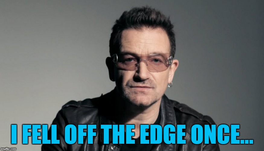 I FELL OFF THE EDGE ONCE... | image tagged in ghostbusters | made w/ Imgflip meme maker