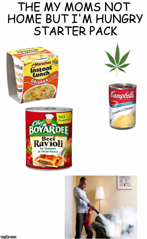 Me yesterday  |  THE MY MOMS NOT HOME BUT I'M HUNGRY STARTER PACK | image tagged in x starter pack,starter pack | made w/ Imgflip meme maker