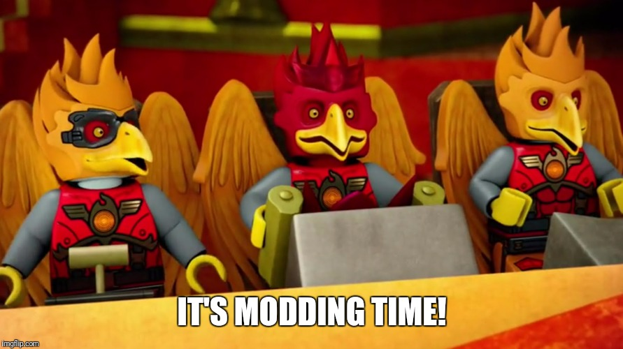 IT'S MODDING TIME! | image tagged in it's blazing time | made w/ Imgflip meme maker