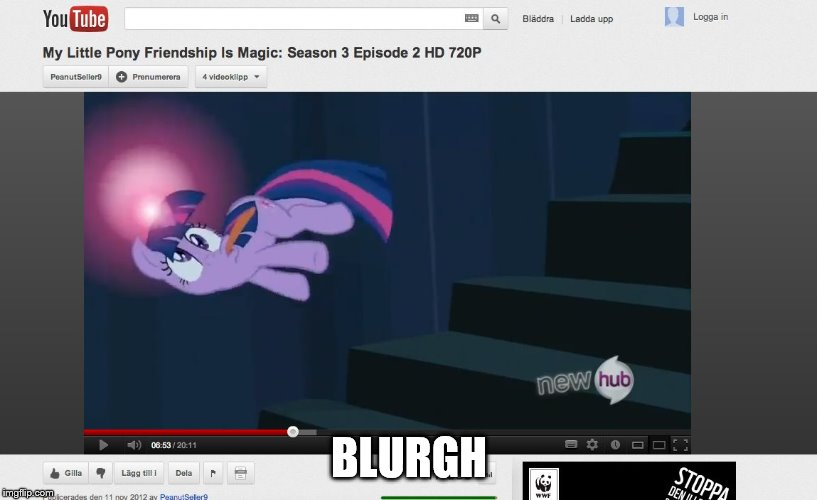 MLP | BLURGH | image tagged in mlp | made w/ Imgflip meme maker