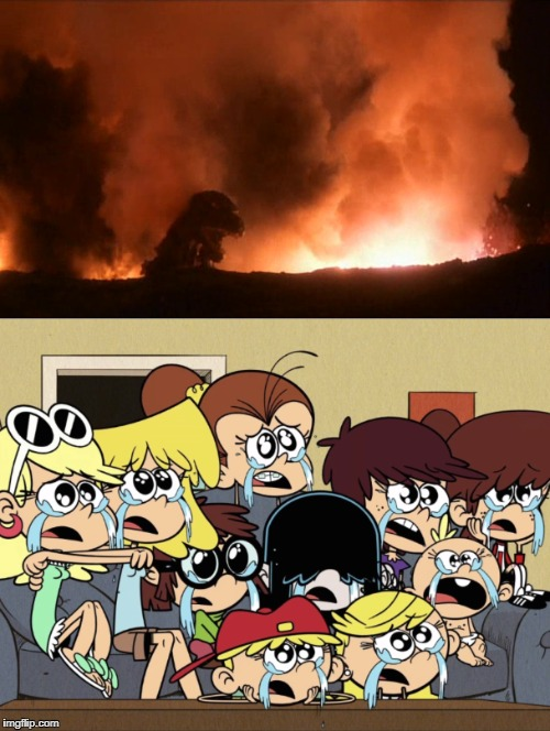 image tagged in godzilla,the loud house | made w/ Imgflip meme maker
