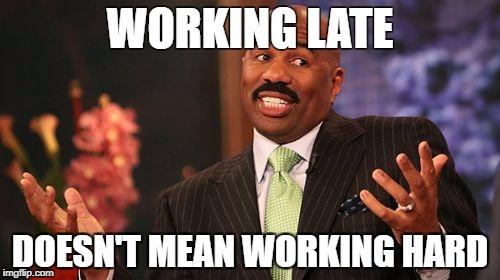 Working Late Meme