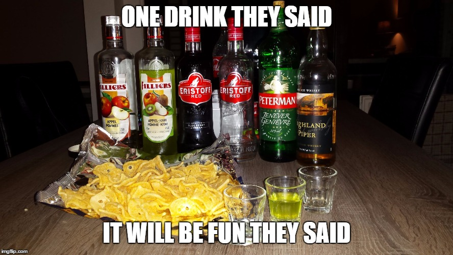 ONE DRINK THEY SAID IT WILL BE FUN THEY SAID | image tagged in matthias d'hondt | made w/ Imgflip meme maker