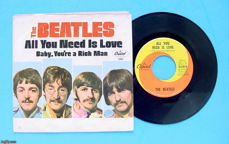 Love is all you need | HJNIUY | image tagged in the beatles,peace,love wins | made w/ Imgflip meme maker