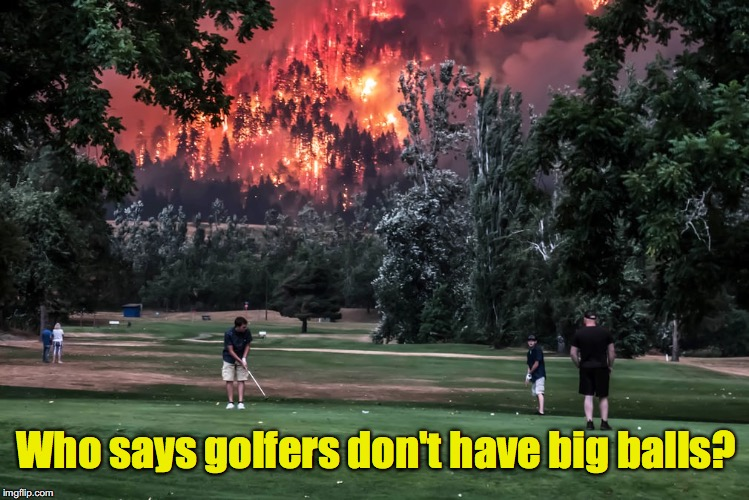 "Gives a whole new meaning to ""firing one off the tee"" 