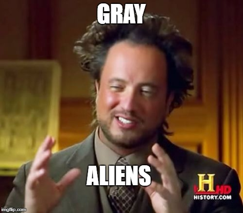 Ancient Aliens Meme | GRAY ALIENS | image tagged in memes,ancient aliens | made w/ Imgflip meme maker