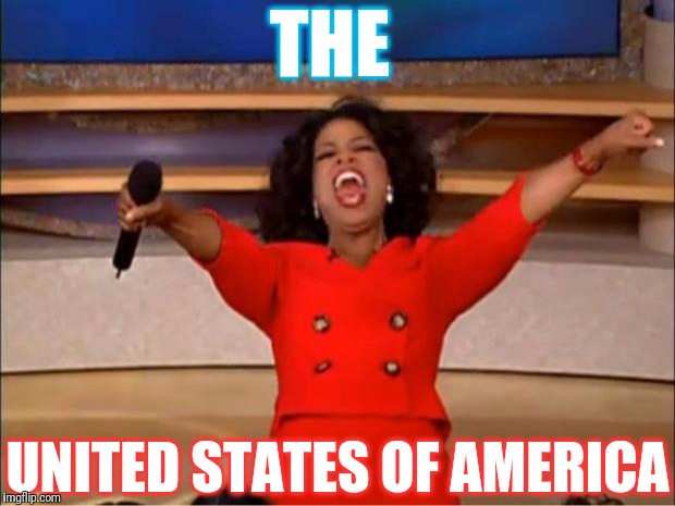 Oprah You Get A Meme | THE UNITED STATES OF AMERICA | image tagged in memes,oprah you get a | made w/ Imgflip meme maker