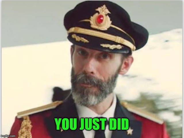 Captain obvious  | YOU JUST DID | image tagged in captain obvious | made w/ Imgflip meme maker