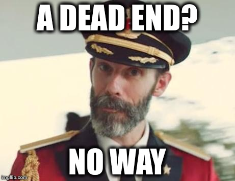 Captain Obvious | A DEAD END? NO WAY | image tagged in captain obvious,memes,funny | made w/ Imgflip meme maker