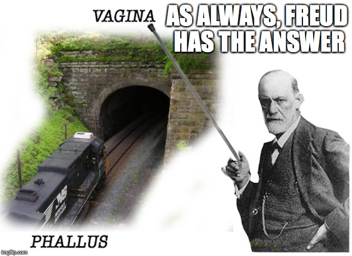 Metro Freud | AS ALWAYS, FREUD HAS THE ANSWER | image tagged in sigmund freud,memes | made w/ Imgflip meme maker