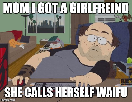 RPG Fan | MOM I GOT A GIRLFREIND SHE CALLS HERSELF WAIFU | image tagged in memes,rpg fan | made w/ Imgflip meme maker