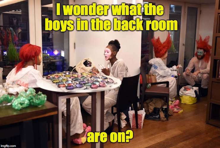 Marlene never banked on this | I wonder what the boys in the back room are on? | image tagged in marlene detrich,actors | made w/ Imgflip meme maker