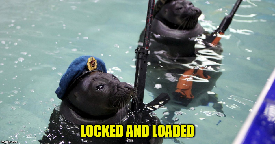 LOCKED AND LOADED | made w/ Imgflip meme maker