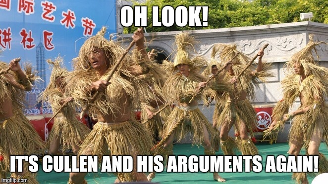 OH LOOK! IT'S CULLEN AND HIS ARGUMENTS AGAIN! | image tagged in strawman | made w/ Imgflip meme maker
