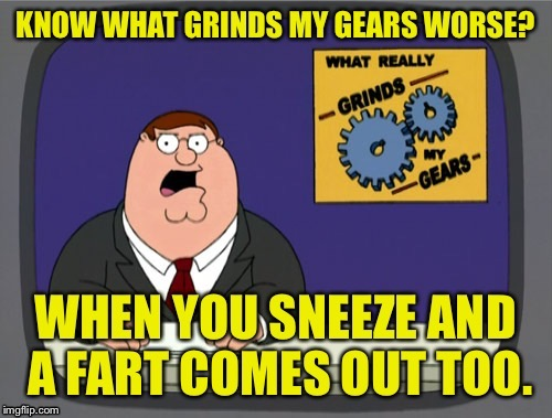 . | image tagged in memes,sneeze,fart,you know what really grinds my gears | made w/ Imgflip meme maker