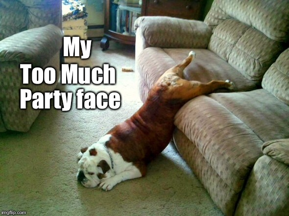 My Too Much Party face | made w/ Imgflip meme maker
