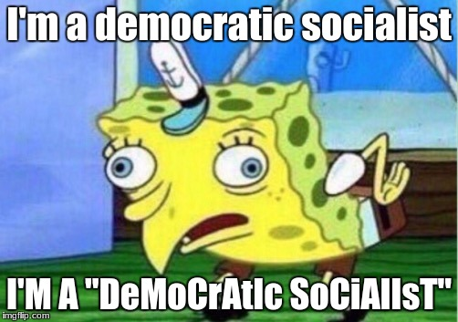 "these socialists are really pissing me off on twitter | I'm a democratic socialist I'M A ""DeMoCrAtIc SoCiAlIsT"" 